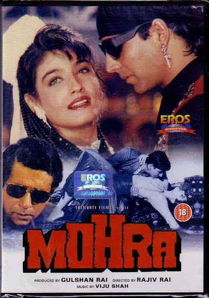 Poster of Mohra 1994 Full Movie 720p Hindi DVDRip Download