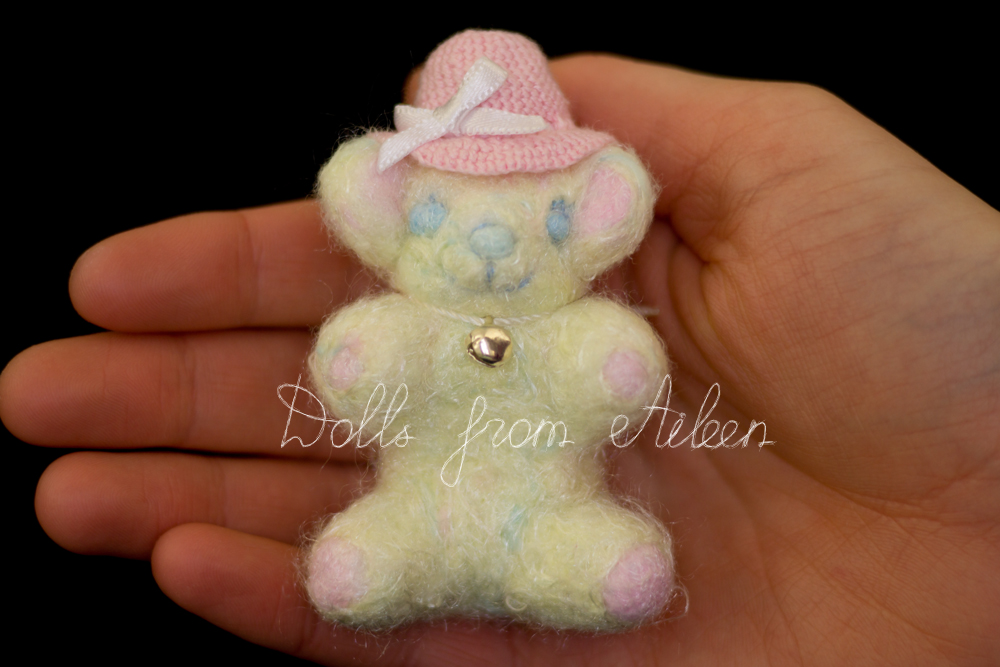 OOAK needle felted teddy bear with human hand