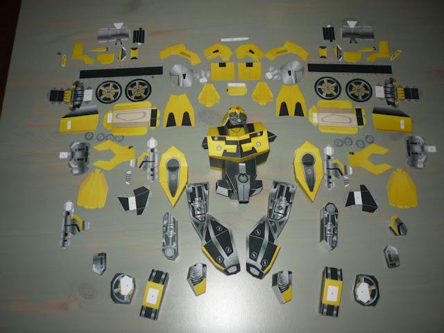 bumblebee, papercraft, transformers