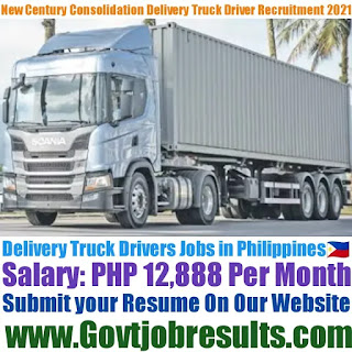 New Century Consolidation Inc Delivery Truck Driver Recruitment 2021-22