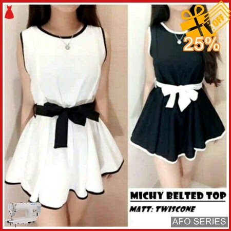 AFO364 Model Fashion Michy Belted Top Modis Murah BMGShop