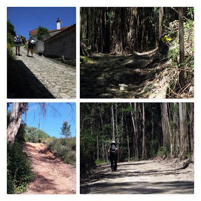 peregrinos de Santiago em caminhos de pedras