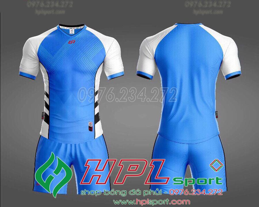 Áo ko logo CP Hro màu tím xanh