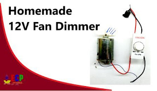how to make 12v dc fan dimmer