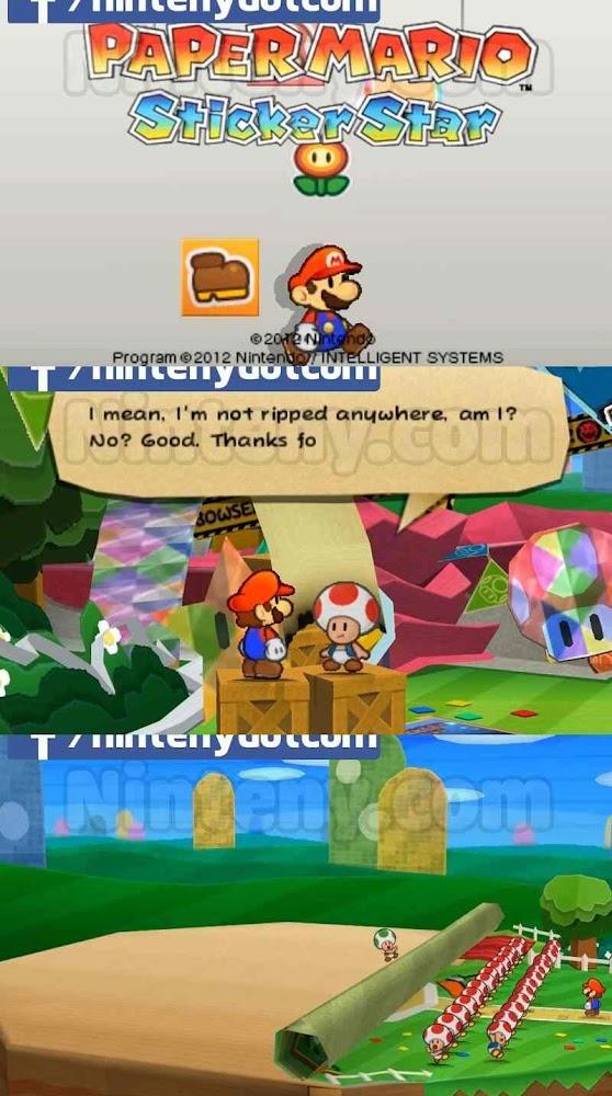 Paper Mario Sticker Star 3DS Decrypted