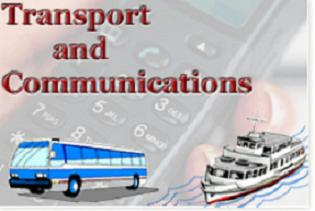 Discuss the role of transport and communication sectors to