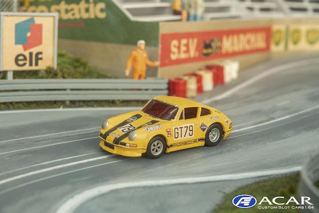 Modelauto 1:64 Porasche 911S #79 1000km Nürburgring 1970