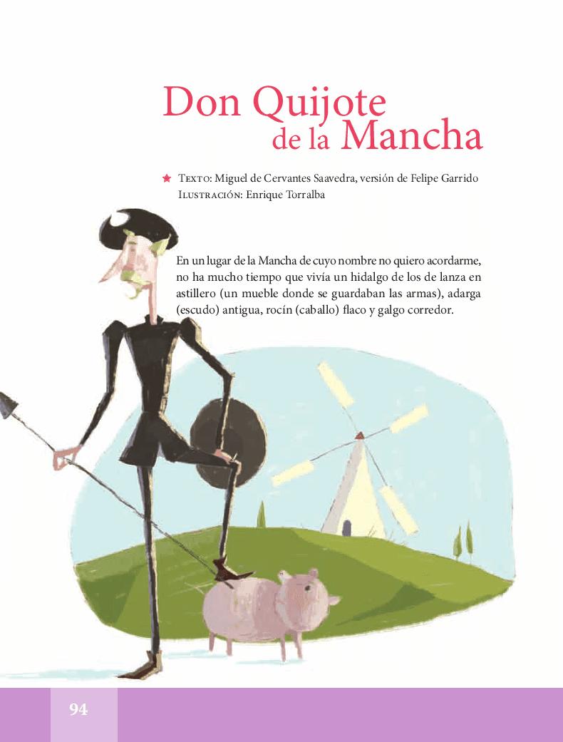 don quijote dela mancha lectura
