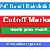 UKSSSC Bandi Rakshak Result 2016 cutoff Marks