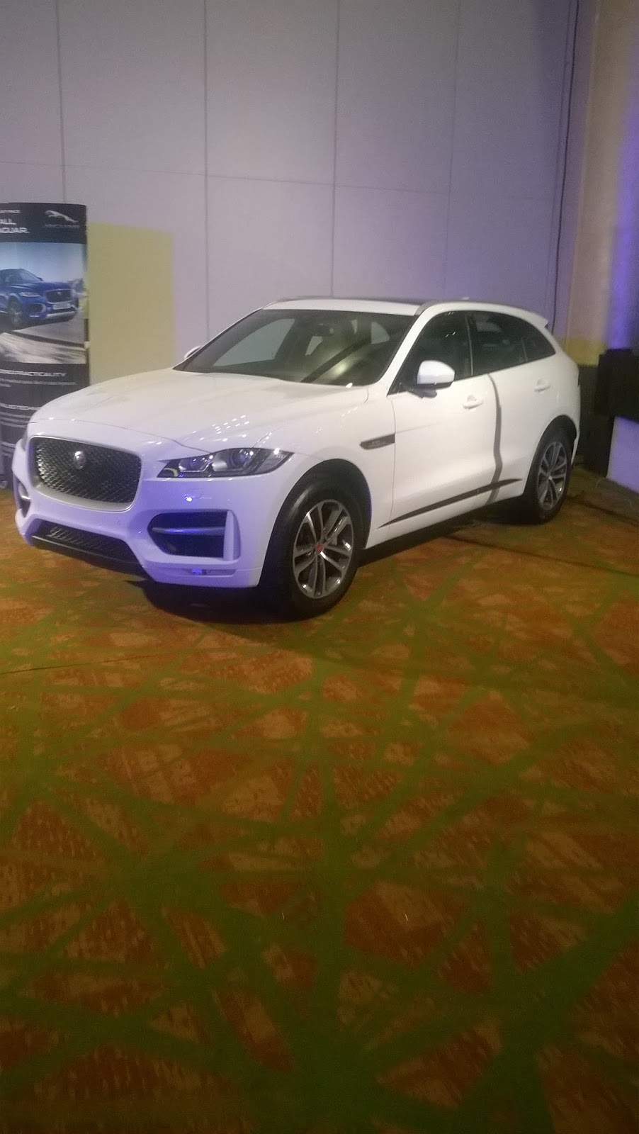 first jaguar suv sport utility vehicle white