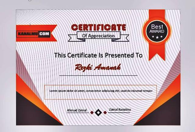 Download piagam penghargaan format word