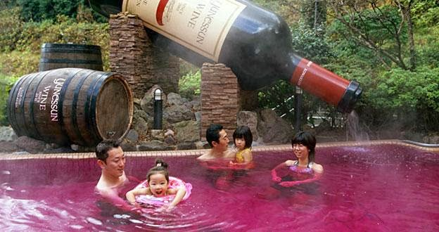 Pix Grove Wine Bath In Japan