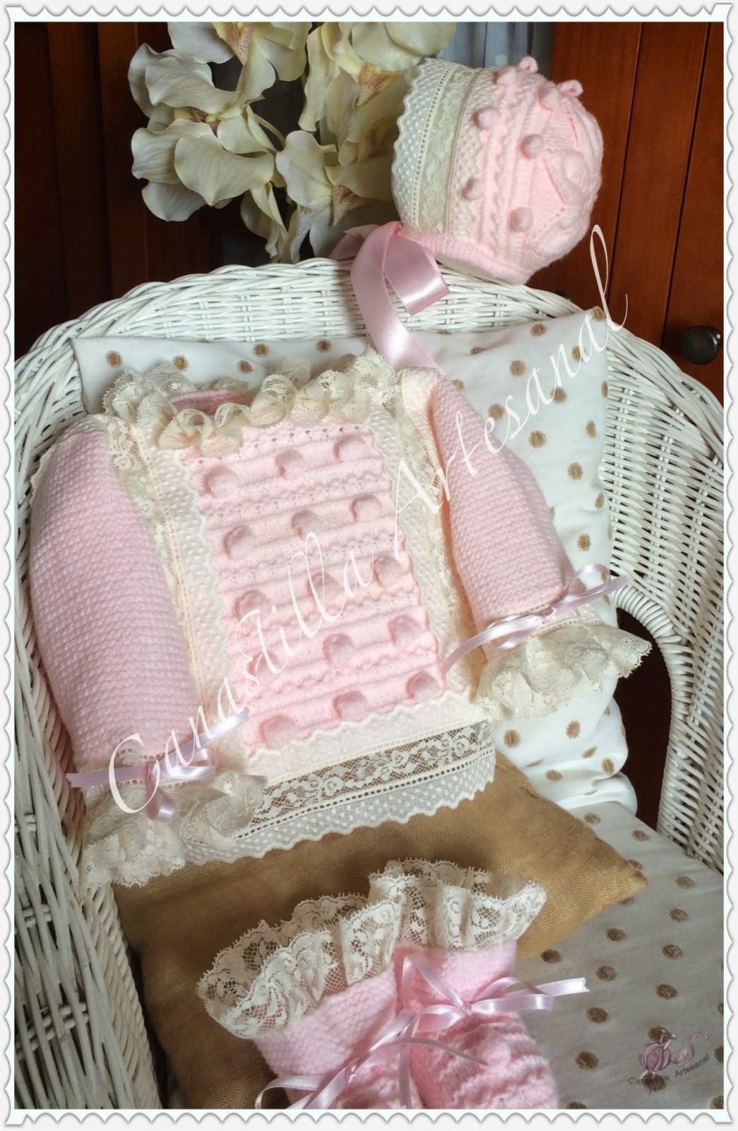 Canastilla artesanal modelo 50 en lana - Canastilla artesanal bebe ...