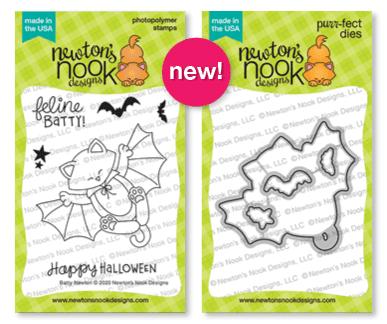 Batty Newton Stamp & Die Set by Newton's Nook Designs