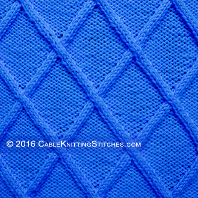 Cable Knitting Stitches » Big Diamonds stitch patterrn