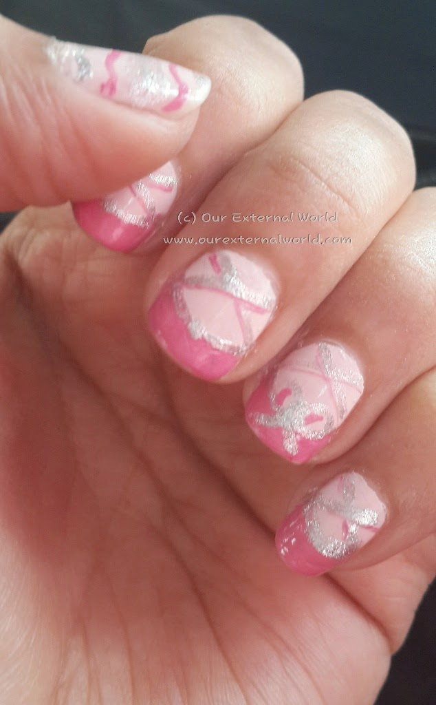 InspiratioNailJune - Ballet Shoes Nail Art
