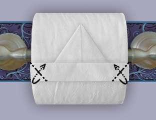 """Оригами """"Кораблик"""" из туалетной бумаги"""