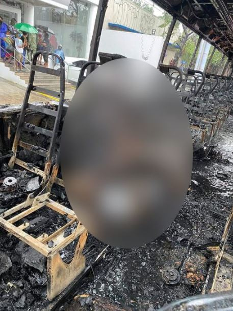 Two dead after man sets female bus conductor on fire