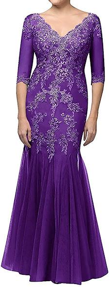 Elegant Purple Mother of The Bride Dresses
