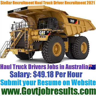 Stellar Recruitment Haul Truck Driver Recruitment 2021-22