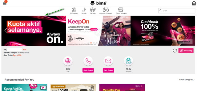 Website Bima Plus