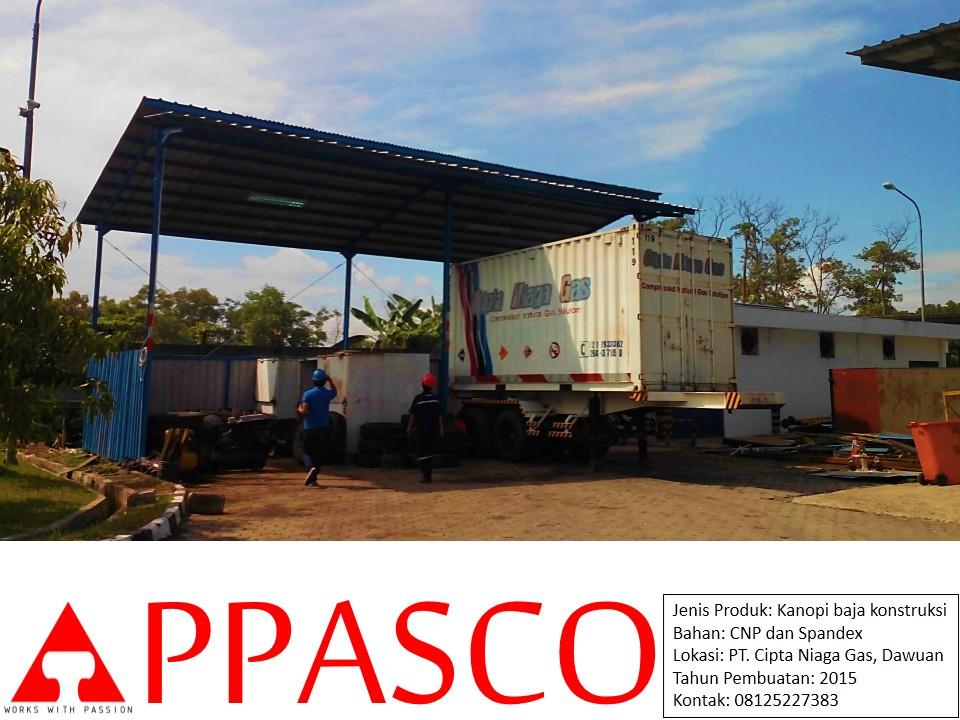 Kanopi Baja Konstruksi Spandex CNP