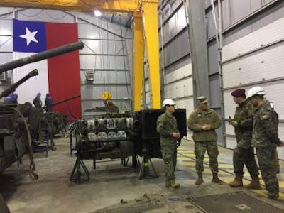 Chile y EEUU comparten experiencias sobre el mantenimiento de blindados
