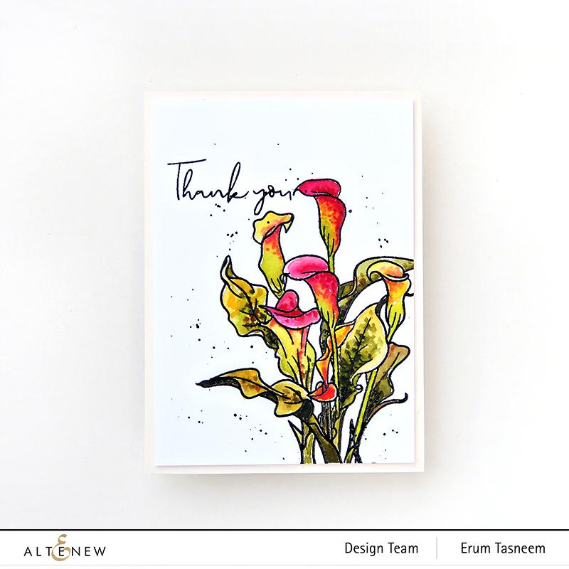 Altenew Paint-A-Flower: Calla Lily | Erum Tasneem | @pr0digy0