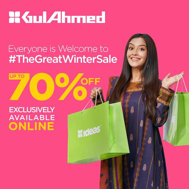Ideas by gul Ahmed winter sale 2020-2021