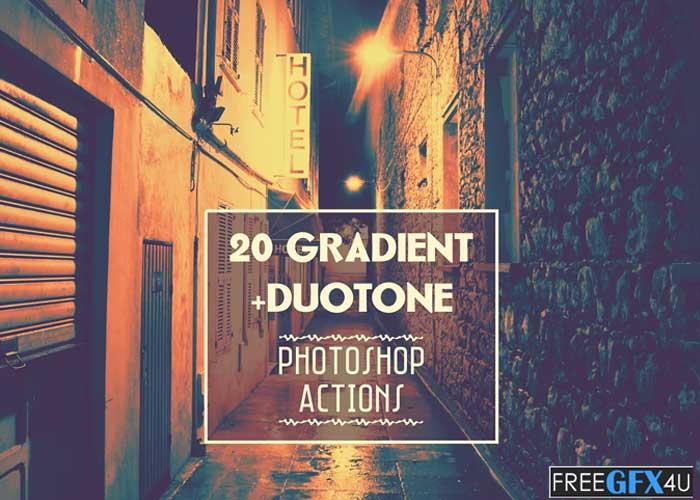 Gradient & Duotone Photoshop Action