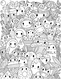 cute Kawaii coloring page printable