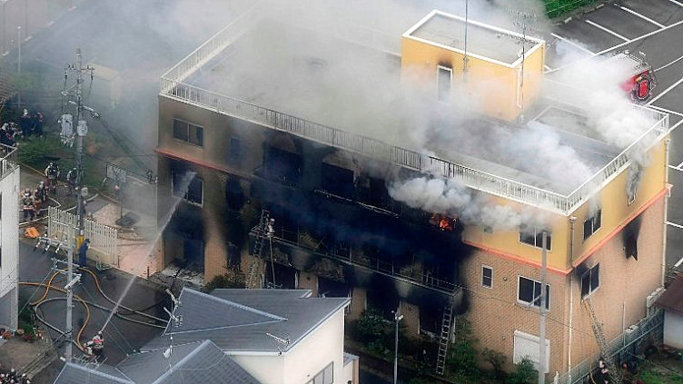 The alleged attack on the animation studio in Kyoto leaves 25 dead.