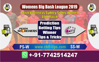 Who will win Today WBBL 2019, 47th Match Sixer vs Perth, WBBL T20 2019