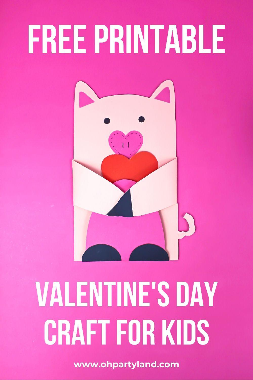 pig craft Valentine's Day card