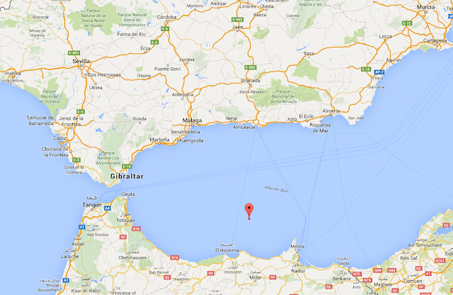 Málaga y Melilla sienten dos terremotos seguidos, Alborán, 22 febrero