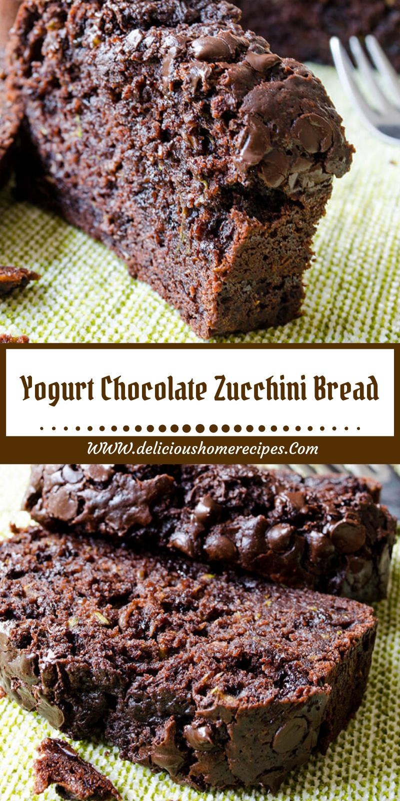 Yogurt Chocolate Zucchini Bread