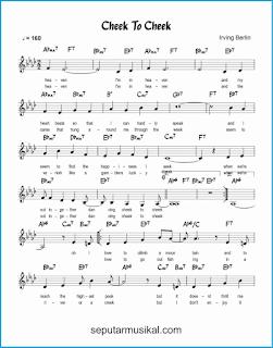 chord cheek to cheek 1 lagu jazz standar