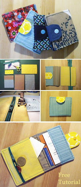 Mini Card Wallet + Sewing Tutorial + Free Pattern
