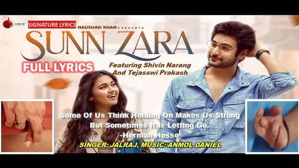 SUNN ZARA LYRICS - JALRAJ | Sunn Zara Lyrics Jalraj