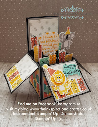 STampin' Up! stamp set and dies were used to create this 3D pop up card
