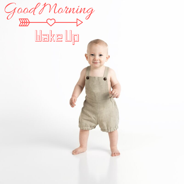 Standing Baby Happy Good Morning Images