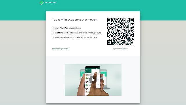 رمز الاستجابة السريعة لـ WhatsApp Web