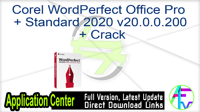 Corel WordPerfect Office Pro + Standard 2020 v20.0.0.200 + Crack