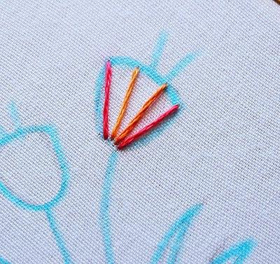 Hướng dẫn thêu hoa tulip - Hình2