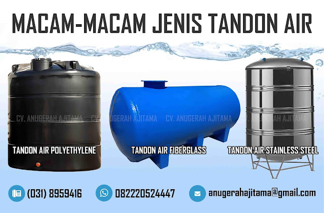 Jenis-Jenis Tandon Air