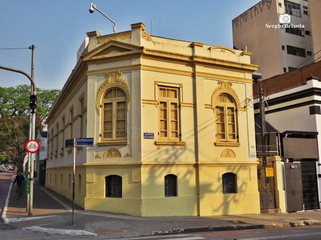 Vista ampla de um antigo Casarão Tombado - Campos Elíseos - São Paulo