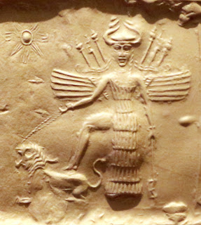 Of Freyja and Lilith, Goddesses and Demons & the Lie of Judeo-Christianity I  Ishtar_on_an_Akkadian_seal