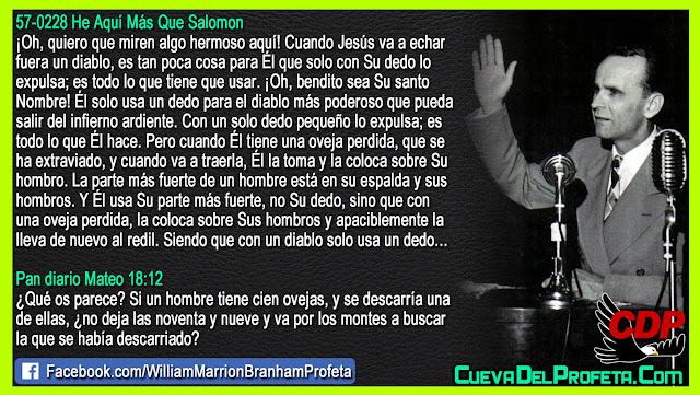 Un dedo para el diablo y el hombro para sus hijos - Citas William Branham Mensajes