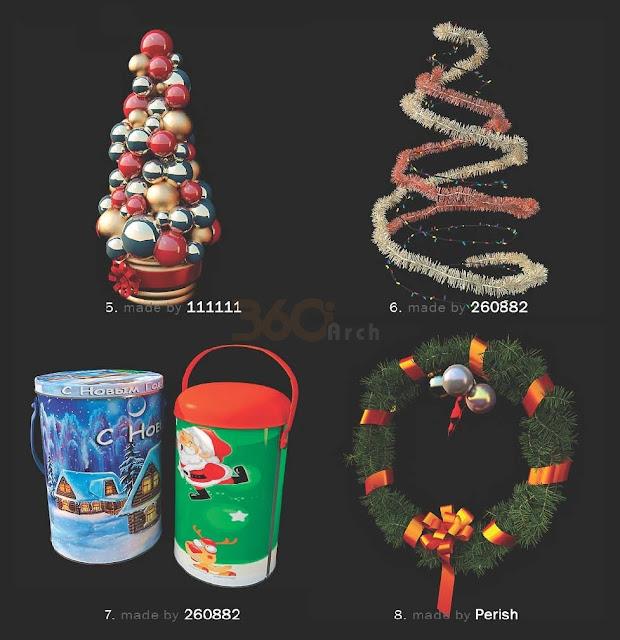 [3D Model Free] 52 Christmass models