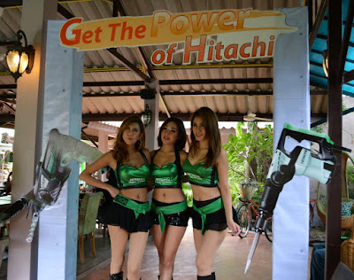 Female Models hired by Hitachi Power Tools for a job site in Buriram